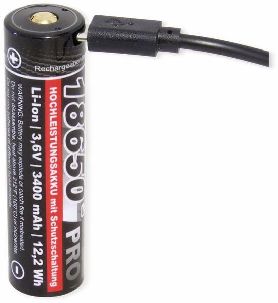 LiIon-Akku KRAFTMAX, Pro 18650-3400, 3,6 V-, 3400 mAh - Produktbild 2