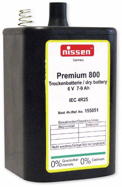 Blockbatterie NISSEN Premium 800, 4R25, Trockenbatterie, 6 V-, 9 Ah