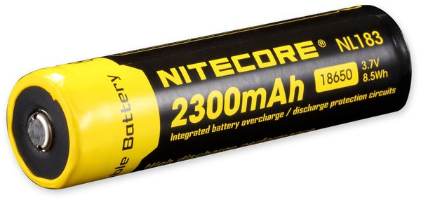 LiIon-Akku NITECORE 18650 NL1823, 4/3 A, 3,7 V-, 2300 mAh