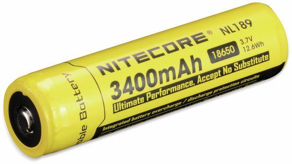 LiIon-Akku NITECORE 18650 NL1834, 4/3 A, 3,7 V-, 3400 mAh