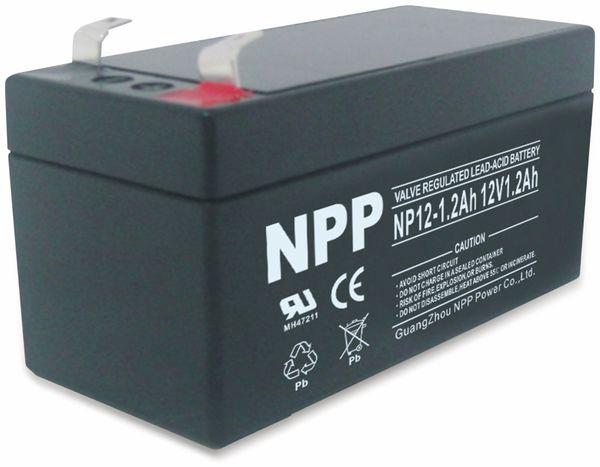 Blei-Akkumulator NPP, NP12-1.2, 12 V-, 1200 mAh