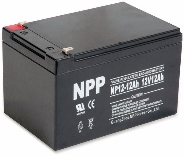 Blei-Akkumulator NPP, NP12-12, 12 V-, 12 Ah