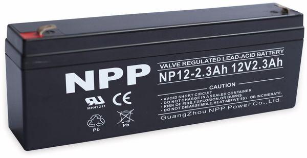 Blei-Akkumulator NPP, NP12-2.3, 12 V-, 2300 mAh