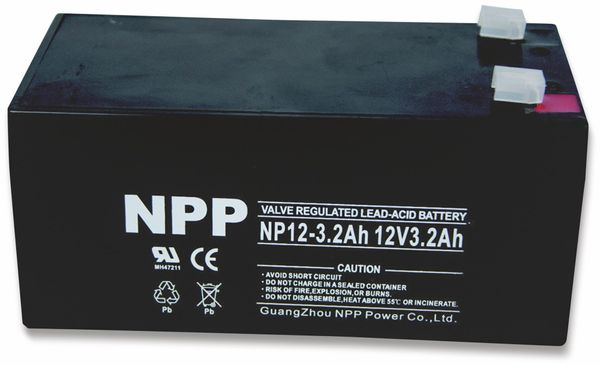 Blei-Akkumulator NPP, NP12-3.2, 12 V-, 3200 mAh