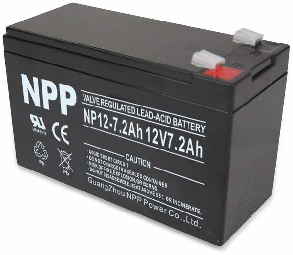 Blei-Akkumulator NPP, NP12-7.2, 12 V-, 7200 mAh