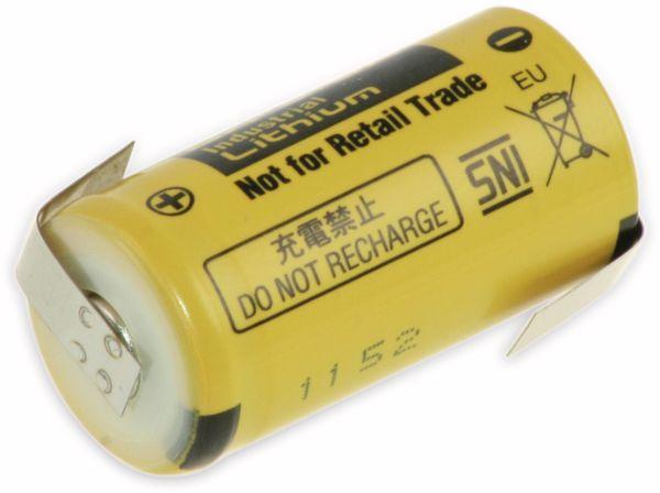 Lithium-Batterie PANASONIC BR /2/3A, mit Z-Lötfahne, 3 V-, 1200 mAh
