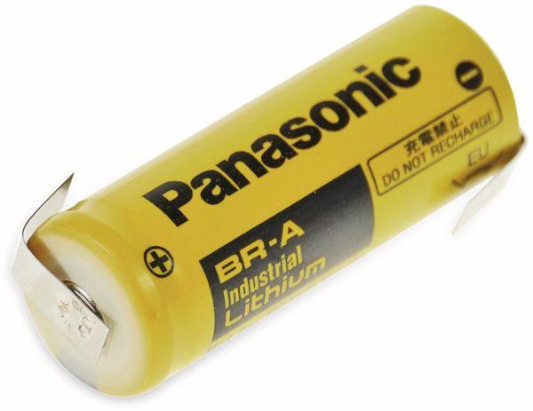 Lithium-Batterie PANASONIC BR-A, mit Z-Lötfahne 3 V-, 1800 mAh