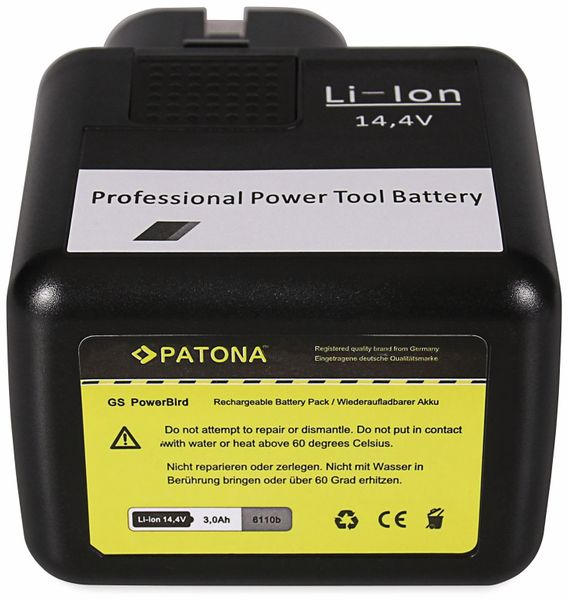 Werkzeugakku PATONA, 14,4 V-, 3 Ah, für Gesipa Akku 4000813080 - Produktbild 4