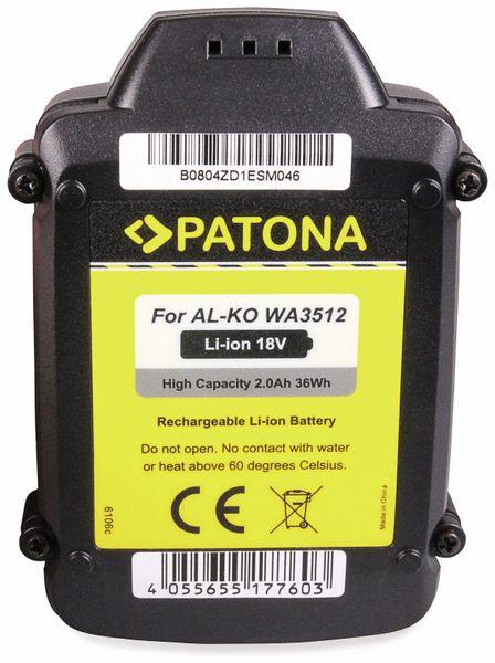Werkzeugakku PATONA, 18 V-, 2 Ah, für Worx Akku WA3512 - Produktbild 4