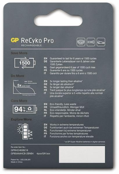 NiMH-Micro-Akku GP ReCyko+ Pro, 800 mAh, 4 Stück - Produktbild 7