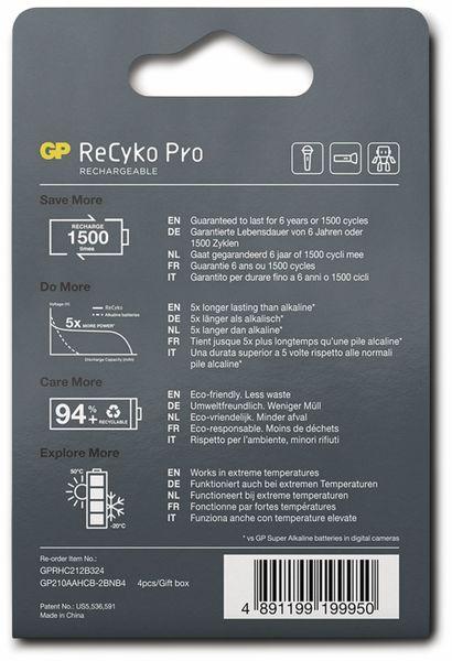 NiMH-Mignon-Akku GP ReCyko+ Pro, 2000 mAh, 4 Stück - Produktbild 9