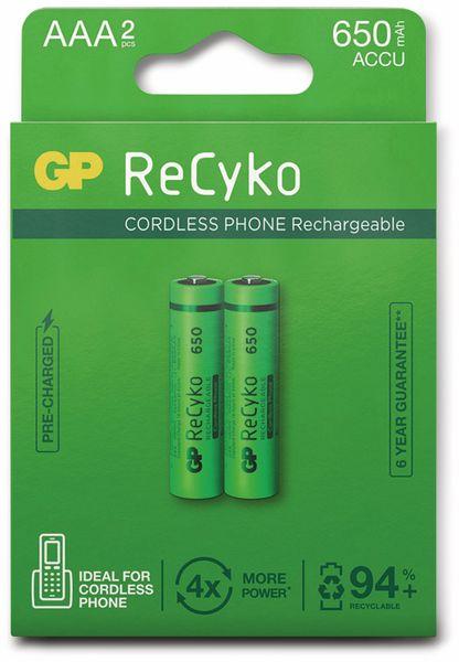 NiMH-Micro-Akku GP ReCyko+, Cordless-Phone, 650 mAh, 2 Stück - Produktbild 5