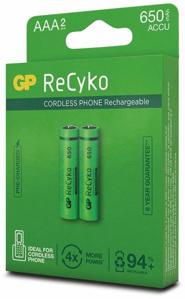 NiMH-Micro-Akku GP ReCyko+, Cordless-Phone, 650 mAh, 2 Stück - Produktbild 6