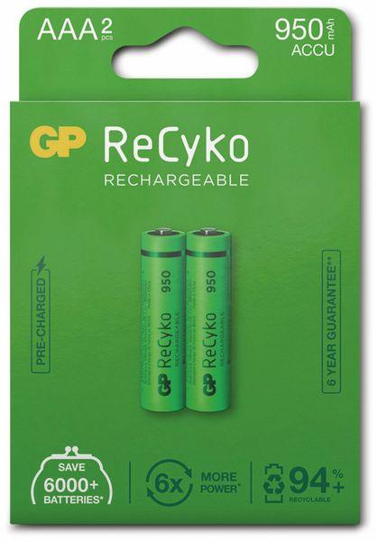 NiMH-Micro-Akku GP ReCyko+, 950 mAh, 2 Stück - Produktbild 5