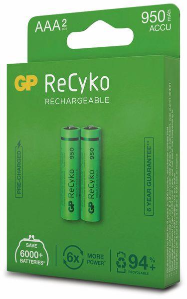 NiMH-Micro-Akku GP ReCyko+, 950 mAh, 2 Stück - Produktbild 6