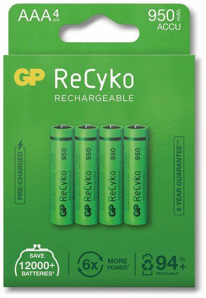 NiMH-Micro-Akku GP ReCyko+, 950 mAh, 4 Stück - Produktbild 5
