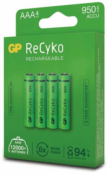 NiMH-Micro-Akku GP ReCyko+, 950 mAh, 4 Stück - Produktbild 6