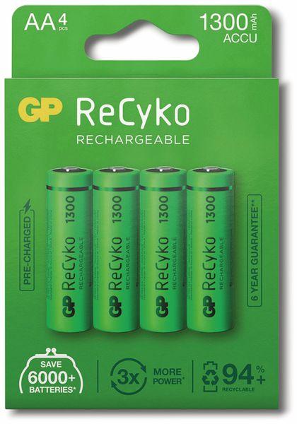 NiMH-Mignon-Akku GP ReCyko+, 1300 mAh, 4 Stück - Produktbild 6