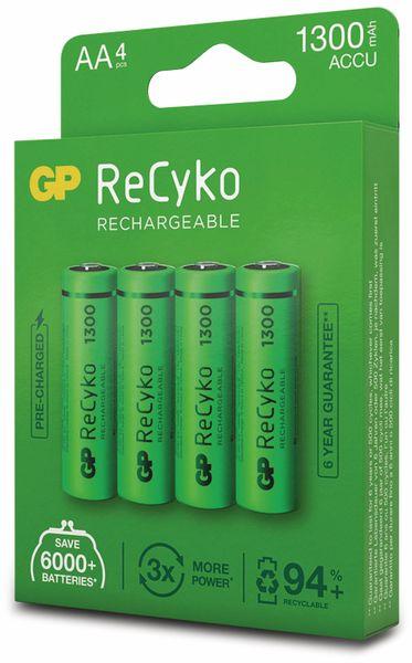 NiMH-Mignon-Akku GP ReCyko+, 1300 mAh, 4 Stück - Produktbild 7
