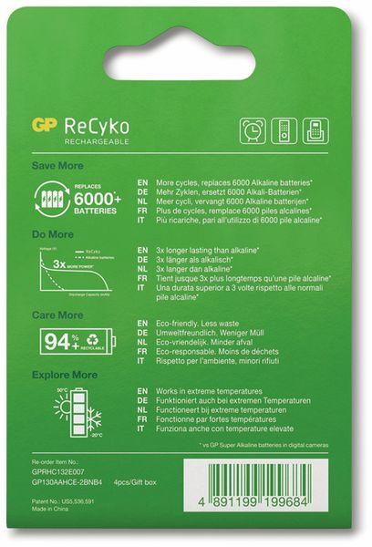 NiMH-Mignon-Akku GP ReCyko+, 1300 mAh, 4 Stück - Produktbild 8