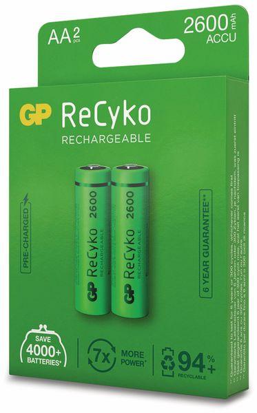 NiMH-Mignon-Akku GP ReCyko+, 2600 mAh, 2 Stück - Produktbild 7