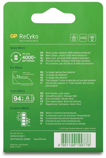 NiMH-Mignon-Akku GP ReCyko+, 2600 mAh, 2 Stück - Produktbild 8