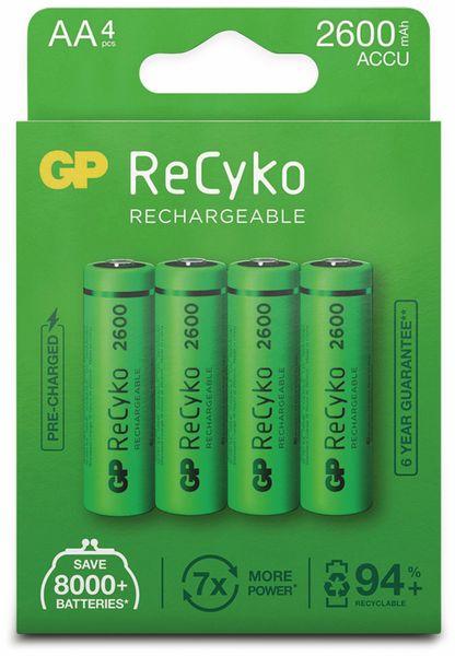 NiMH-Mignon-Akku GP ReCyko+, 2600 mAh, 4 Stück - Produktbild 6