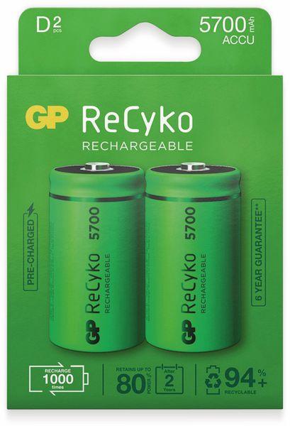 NiMH-Mono-Akku GP ReCyko+, 5700 mAh, 2 Stück - Produktbild 3