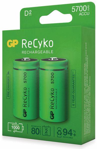 NiMH-Mono-Akku GP ReCyko+, 5700 mAh, 2 Stück - Produktbild 4