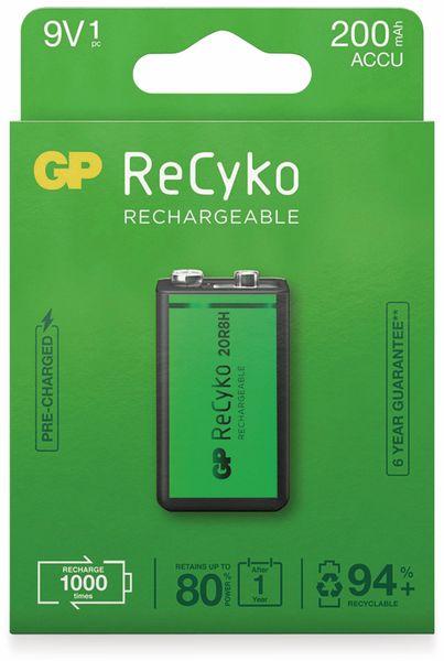 NiMH-9V-Block-Akku GP ReCyko+, 200 mAh - Produktbild 2