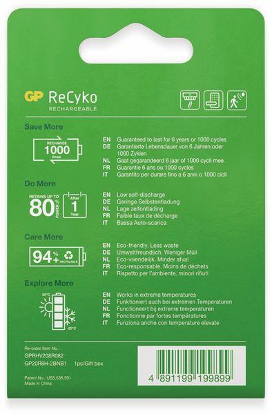 NiMH-9V-Block-Akku GP ReCyko+, 200 mAh - Produktbild 4
