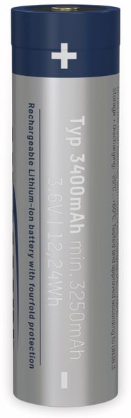 LiIon-Akku ANSMANN 1307-0003, 18650, 3,6 V-, 3400 mAh, Micro-USB Buchse - Produktbild 5