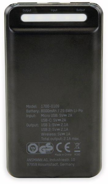 USB Powerbank ANSMANN Wireless 8.0, 8.000 mAh - Produktbild 3