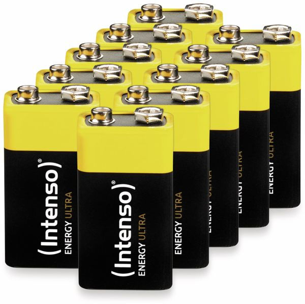 10er-Set 9V-Blockbatterie INTENSO Energy Ultra, 6LR61, E-Block