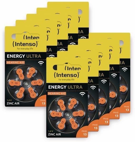 60er Hörgeräte-Batterien-Set INTENSO, Energy Ultra A 13, orange