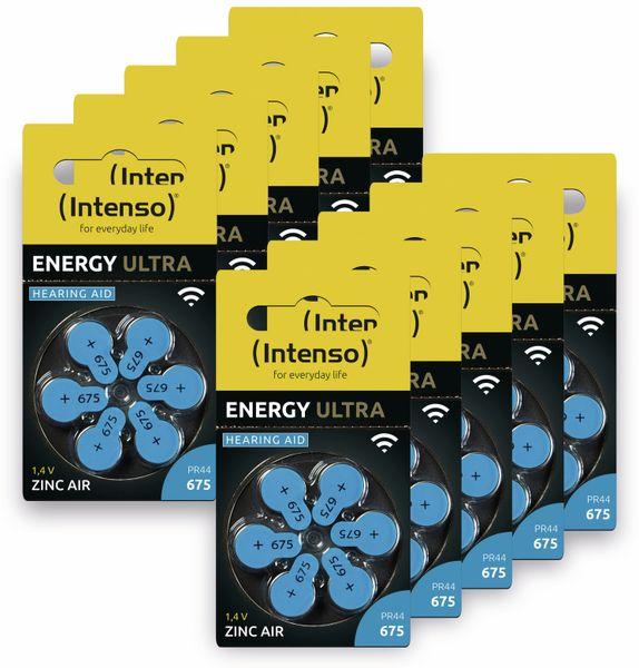 60er Hörgeräte-Batterien-Set INTENSO, Energy Ultra A 675, blau