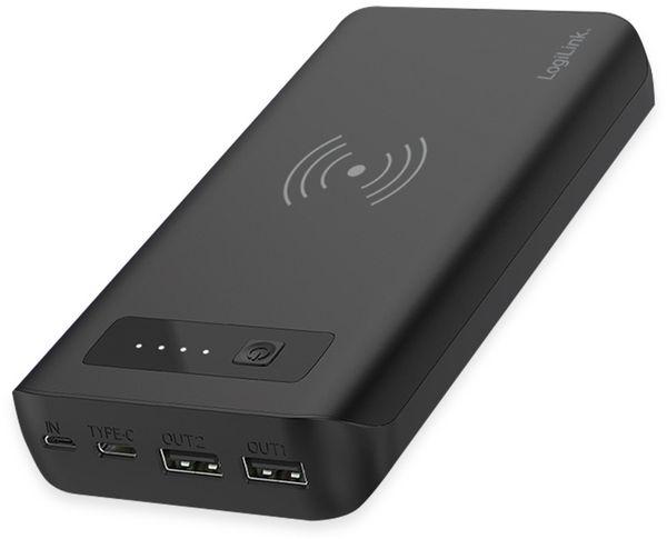 USB Powerbank LOGILINK PA0251, 20.000 mAh, mit Qi-Aufladefunktion