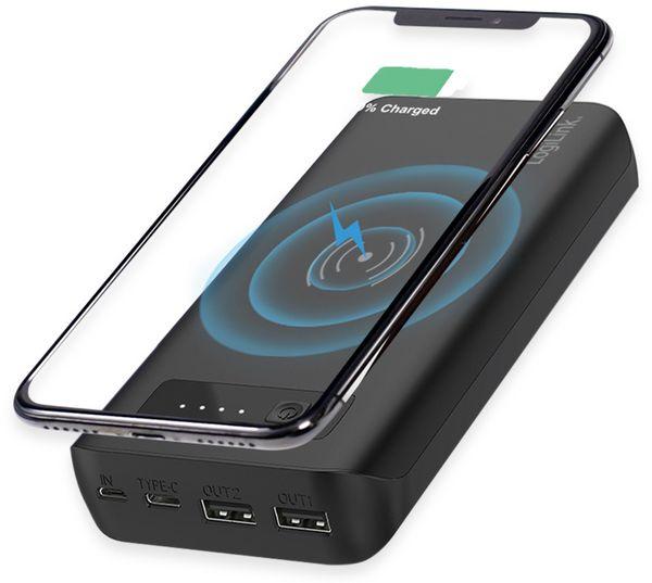 USB Powerbank LOGILINK PA0251, 20.000 mAh, mit Qi-Aufladefunktion - Produktbild 2