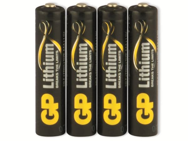 Micro-Batterie GP EXCELLENT Lithium, 4 Stück - Produktbild 5