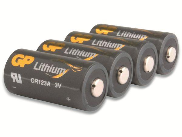 Lithium-Batterie GP CR123A, 4 Stück