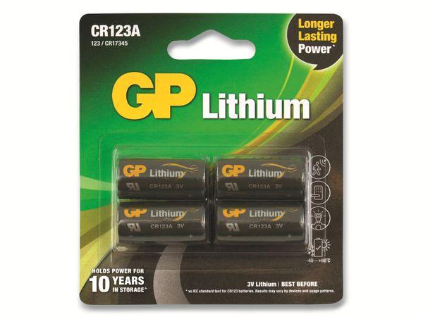 Lithium-Batterie GP CR123A, 4 Stück - Produktbild 2
