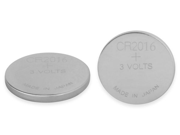 Knopfzelle, GP, CR2016, Lithium, 3 V, 2 St.
