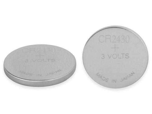Knopfzelle, GP, CR2430, Lithium, 3 V, 2 St.
