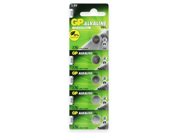 Knopfzelle GP LR44, Alkaline, 1,5 V-, 5 Stück - Produktbild 7