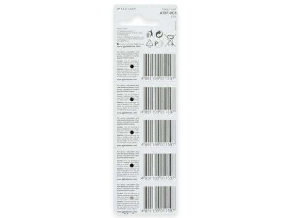 Knopfzelle GP LR44, Alkaline, 1,5 V-, 5 Stück - Produktbild 8