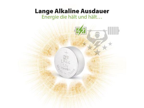 Knopfzelle GP LR44, Alkaline, 1,5 V-, 5 Stück - Produktbild 10
