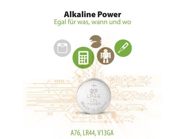 Knopfzelle GP LR44, Alkaline, 1,5 V-, 10 Stück - Produktbild 9
