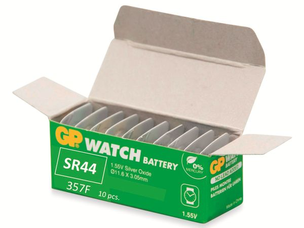 Knopfzelle GP SR44 / 357F, 1,55V, Silberoxid - Produktbild 3