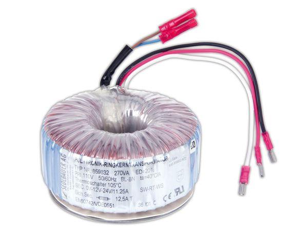 Ringkern-Transformator SEDLBAUER 859832, 270 VA - Produktbild 1