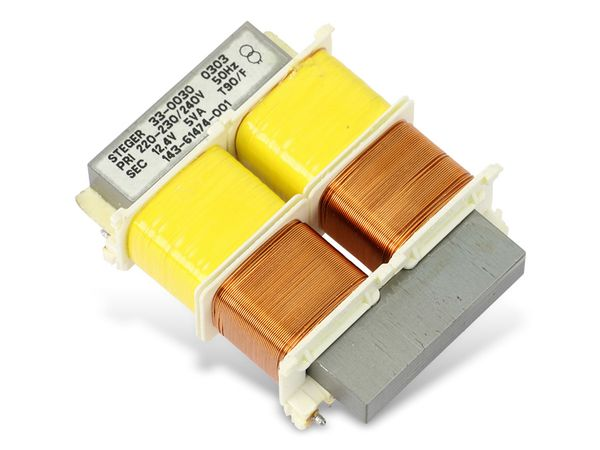 Printtrafo STEGER 33-0030, 12,4 V~/5 VA - Produktbild 1